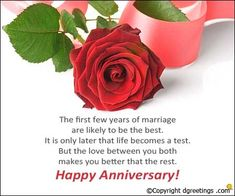 The first few years of marriage are likely to be the best. Anniversary Wishes For Parents, Happy Marriage Anniversary, Wishes For Brother, Anniversary Message, Good Morning Quotes, Jay, Messages, Make It Yourself, Couples