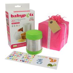 Baby Weaning Gift Set for 9 months+. The perfect gift set to pass on to a parent with a weaning baby, it includes weaning pots and a food flask. Food Portions, Baby Weaning, Pot Lids, Batch Cooking, Food Labels, 9th Month, Food Storage Containers, No Cook Meals, New Recipes