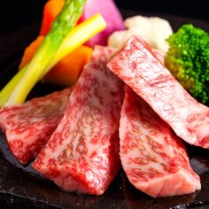 Tochigi wagyu beef grilled on Aso lava stone