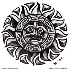 65 free sun tattoo designs + the meaning of sun tattoos. Designs include: tribal suns, sun and moon tattoos, Godsmack sun tattoo, . Sun Tattoos, Celtic Tattoos, Body Art Tattoos, Tattoos For Guys, Mayan Tattoos, Sleeve Tattoos, Aztec Tattoo Designs, Aztec Designs, Sun Designs