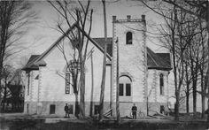 G69/ Quincy Michigan RPPC Postcard c1910 united Methodist Church Episcopal Church, Lutheran, Old Churches, Church Building, Lake Michigan, Vintage Postcards, Ohio, Painting, Vintage Travel Postcards