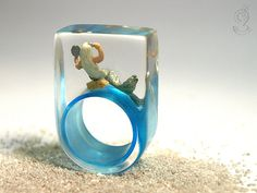 Sea breeze Magical mermaid ring with a by GeschmeideUnterTeck