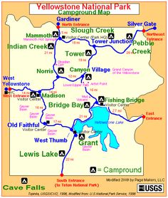 Yellowstone National Park, Campground Review, Camping, RV, campground map,