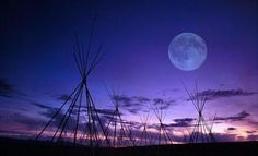 the Moon over the Bighole Battlefield