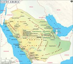 Top tourist places and attractions of Saudi Arabia. Find here maps, best time to visit, facts and major tourist attractions of Saudi Arabia. Tourist Map, Tourist Places, Sister Cities, Mekkah, Arabian Peninsula, Old World Maps, Country Maps, Largest Countries, Riyadh