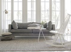 Scandinavian livingroom by Talosanomat. Obsessed with the wonderful Madamoiselle rocking chair.