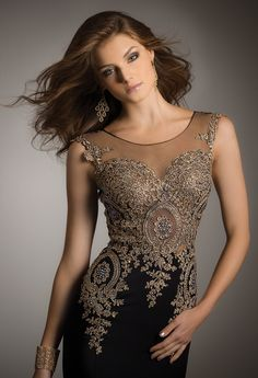 Applique Mesh Dress