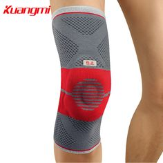 7566a79976 Kuangmi Silicone Pad Knee Pad Knee Brace Sports Compression Sleeve Support  Knee Protector Leg Guard Running Joint Pain Relief -in Elbow & Knee Pads  from ...