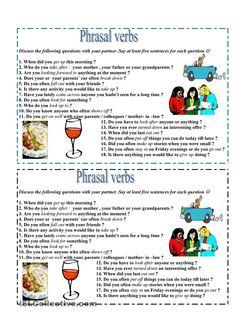 Phrasal verbs - speaking