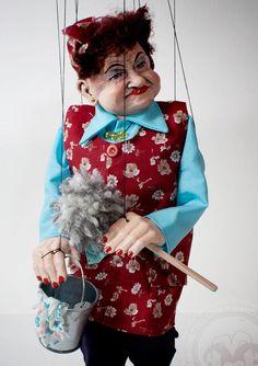 Putzfrau tschechischen Marionette Marionette von CzechMarionettes