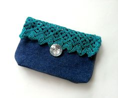 Most of my craftings are greatly inspired by my Grandma. A few months ago she sent me a bunch of pretty laces. I had some jeans fabric, so I thought of making a jean and lace purse (as we all know that jeans and lace make a pretty combination). Making this purse is very easy and it'll take only 10 minutes. These jeans and lace purse can be great for holiday gifts! they're easy to make and useful! Lets get started!