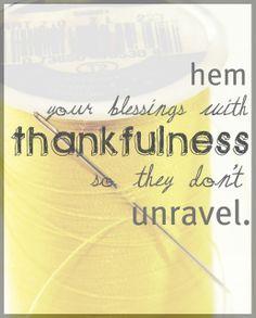 Thankfulness.