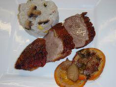 Konyhabűvész: KACSAMELL NARANCCSAL, ALMÁVAL, GYÖMBÉRREL, MÉZZEL Pork, Beef, Diet, Kale Stir Fry, Meat, Pork Chops, Steak