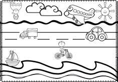 Pre-k transportation theme. Used for bulletin board