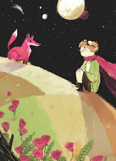 This reminds me of The Little Prince, @Maddy Lucas, if he had a fox on his planet. (Annie Carbo)