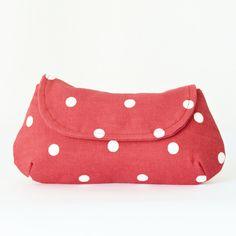 Rockabilly Clutch Purse in Red Polka Dot. £18.00, via Etsy.
