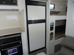 OVERLAND GETAWAY 216 ON-ROAD FAMILY CARAVAN - Gold Coast Caravan Sales Top Freezer Refrigerator, French Door Refrigerator, Double Bunk, Gold Coast, Queen Size, Caravan, Kitchen Appliances, Range, Home