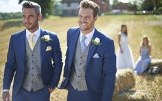 Luxury Blue Mens Wedding Suits