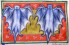 Bat | Bestiary England | possibly in Lincoln or York | ca. 1185 | The Morgan Library & Museum