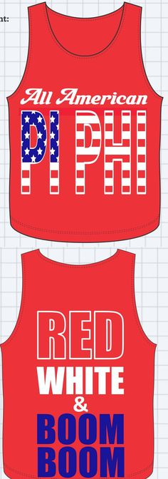 All American Pi Phi- Red, White, and Boom Boom! BID DAY!?!??!