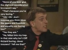 Rik and Ade Appreciation Very Boring, Young Ones, Equality, Thinking Of You, Appreciation, Comedy, Peace, Sayings, Words