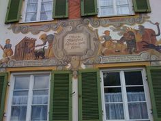 Detail from the Hansel and Gretel house, Oberamergau