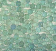 ISI  Circles, Circles, Aqua, Glossy & Iridescent, Aqua, Glass - would make a beautiful backsplash!