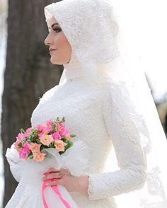 Bridal Hijab, Muslim Wedding Dresses, Muslim Brides, Wedding Hijab, Wedding Bride, Wedding Gowns, Bridesmaid Dresses, Bridal Looks, Bridal Style
