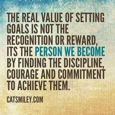 Setting goals...