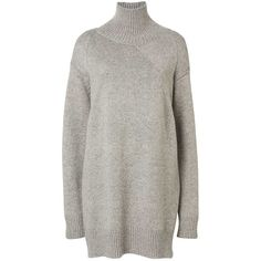 Witchery Oversized Funnel Neck Knit ($145) ❤ liked on Polyvore featuring  tops, sweaters · Cocoon SweaterMarled SweaterGrey ...