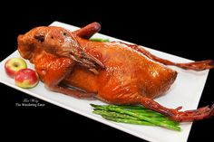 Whole tea smoked duck. Whole Tea smoked duck great for Chinese New Year. (And good all year round) Wild Game Recipes, Duck Recipes, Asian Recipes, Smoked Duck Recipe, Chinese Roast Duck, Plum Sauce, Braised Chicken, Smoked Chicken, Chicken Drumsticks