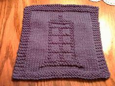 Ravelry: Doctor Who TARDIS Dishcloth pattern by holynarf (Lindsay)