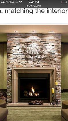 Fireplace Refacing Reface Bat Cozy Ideas Modern Stone