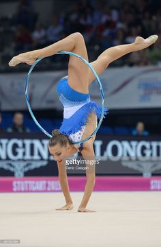 Melitina Staniouta of Bulgaria competes during the 34th Rhythmic Gymnastics World Championships on September 8, 2015 in Stuttgart, Germany.