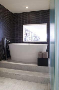 I love this tub...modern bathroom by Feldman Architecture, Inc.