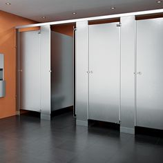 Granite And Stainless Steel Toilet Partitions Are Ideal For Very - Steel bathroom partitions