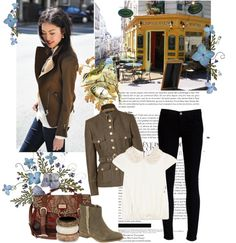 """""""Army green jacket"""" by sarapires on Polyvore"""