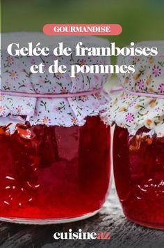 Une recette facile de gelée de framboises et de pommes à préparer cet automne. #recette#cuisine #gelee #framboise #pomme #fruit