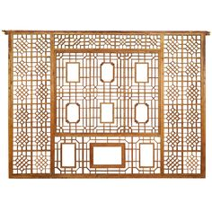 A Grand Early 20th Century Chinese Lattice Panel | From a unique collection of antique and modern beds at http://www.1stdibs.com/furniture/more-furniture-collectibles/beds/ This would make a cool headboard.