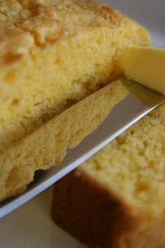 "Amish Sour Cream Corn Bread.  ""This was the BEST corn bread!  Dense, moist and not too crumbly.  Perfect with chili! Will definitely make again."""