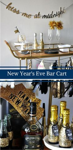 Our New Year's Eve Bar Cart by Happy Family Blog