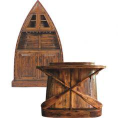 Wooden Row Boat Bar