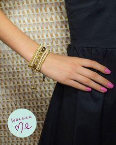 Pulseira 5 Fios Nude e Dourada  http://www.squeezeme.com.br/detalhes.asp?idproduto=19311