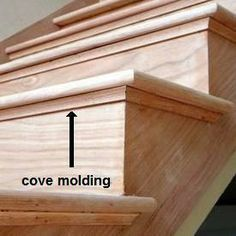 Cover Moulding Under The Step. Think This Would Add A Little Additional  Impact And Take