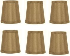 Mini Chandelier Shades Clip On Small Lamp shade Set Of Six Bronze silk type material -- Want to know more, click on the image. (This is an affiliate link) #LampShades