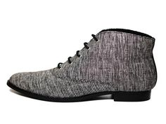 Vegan Shoes & Bags: Devin Woven Bootie by BHAVA in Black/Multi