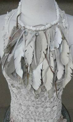 Feathers Beads and shells by arttiiii on Etsy