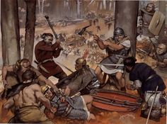 battle of teutoburg forest | Battle of Teutoburg Forest, by Angus McBride
