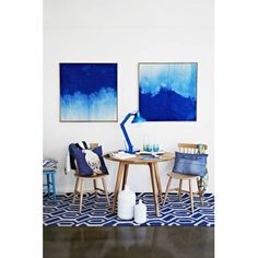 SASSON HOME - BEEHIVE BLUE DHURRIE - Crate expectations