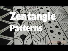 How To Draw Easy Zentangle Art Patterns For Beginners,Tutorial Doodle Drawing Step By Step 1-5 - YouTube